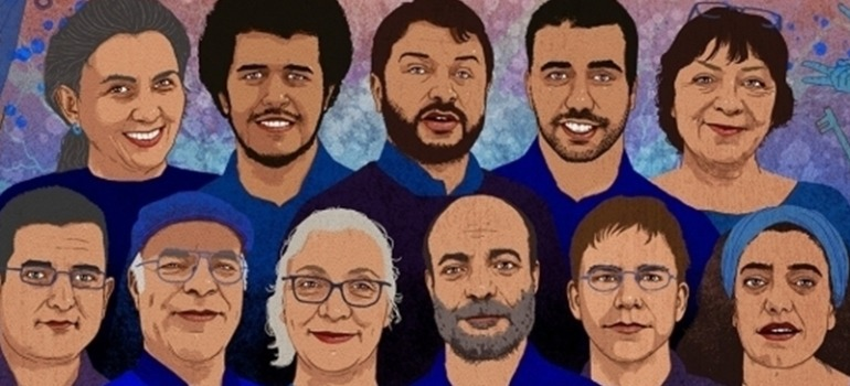 Four rights defenders convicted in